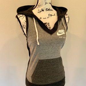Nike Tops - Nike Sleeveless Hoodie Racerback Athletic Tank Top